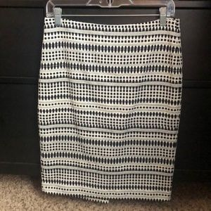 Ann Taylor LOFT Black and White pencil skirt
